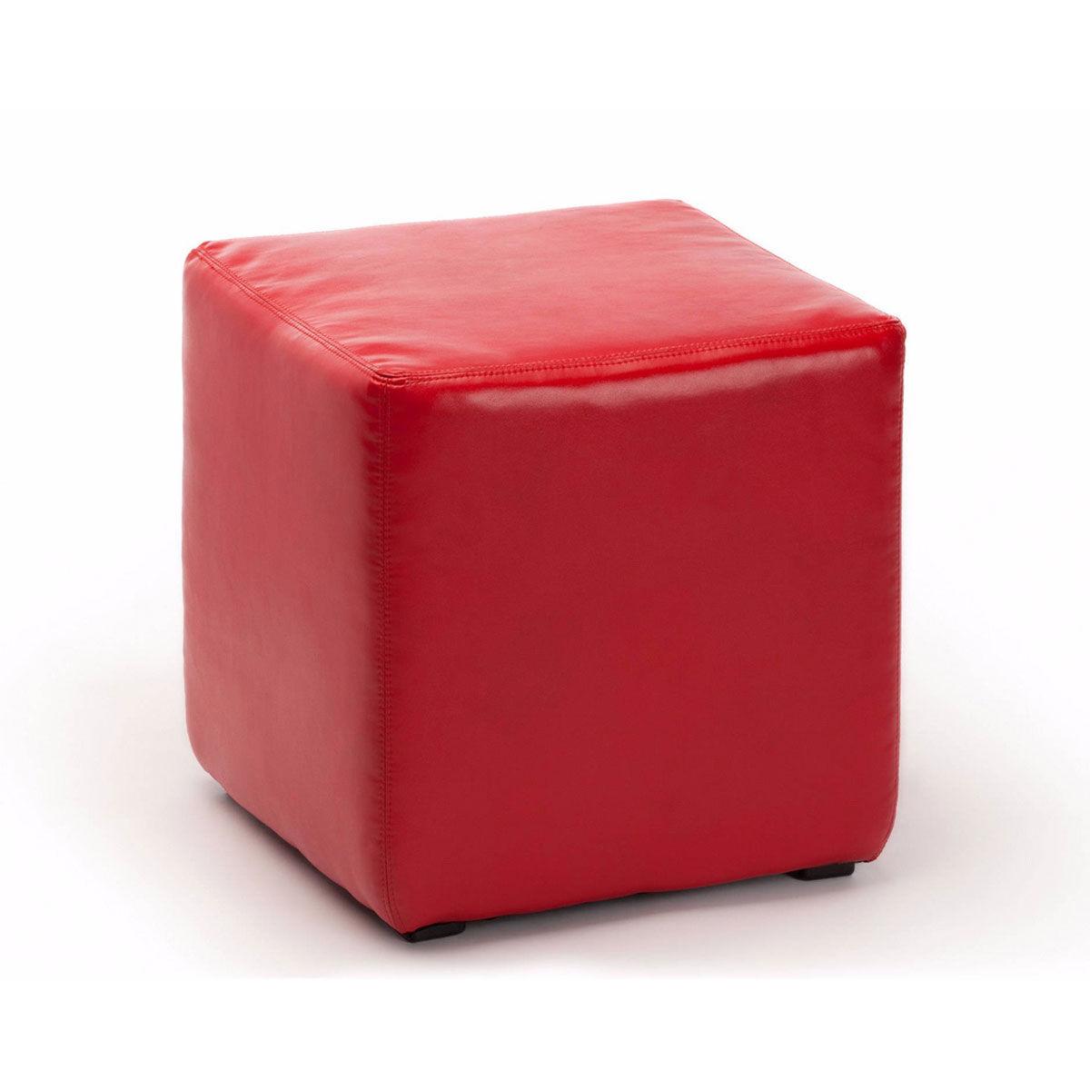Пуф красный