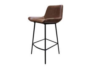 Кожаный барный стул в стиле Лофт