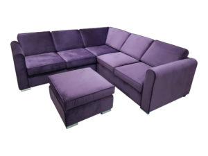 Угловой диван с банкеткой